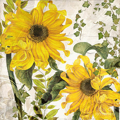 Sunflowers Royalty-Free and Rights-Managed Images - Carina Sunflowers by Mindy Sommers