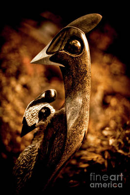 Guineafowl Photograph - Caring Guineafowl by Venetta Archer