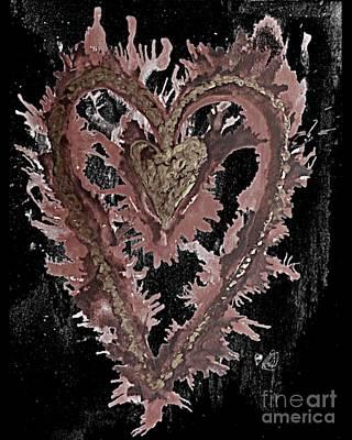 Day Care Mixed Media - Caring Heart Art #1 by Amber Feng Shui Art Art