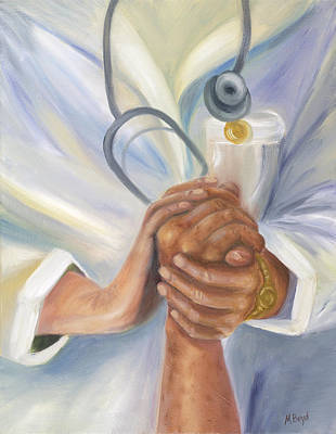 Healthcare Painting - Caring A Tradition Of Nursing by Marlyn Boyd