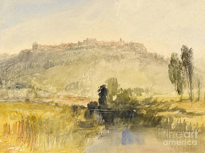 Hills Drawing - Carisbrooke Castle by Joseph Mallord William Turner