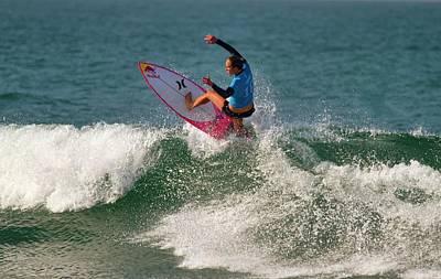 Photograph - Carissa Moore Surfer by Waterdancer
