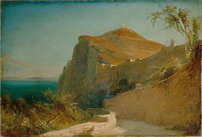 Color Painting - Carl Blechen, Tiberiusfelsen On Capri, 1829-30 by Celestial Images