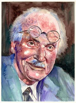 Traditional-modern Contemporary Painting - Carl Gustav Jung Portrait by Suzann's Art