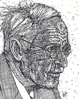 Drawing - Carl Jung - Ink Portrait by Fabrizio Cassetta