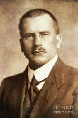 Carl Jung, Psychoanalyst By Mary Bassett Art Print