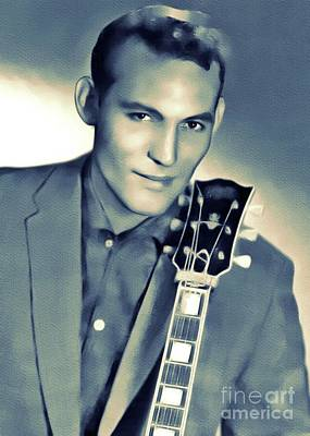 Rock And Roll Royalty-Free and Rights-Managed Images - Carl Perkins, Music Legend by Mary Bassett