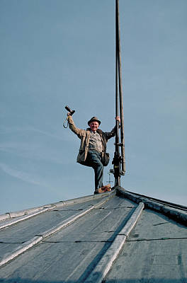 Photograph - Carl Purcell With Camera On Top Of Notre Dame by Jane Okershausen