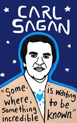 Carl Sagan Painting - Carl Sagan by Chris Kruse