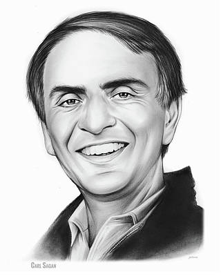Natural Drawing - Carl Sagan by Greg Joens