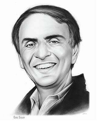 Author Drawing - Carl Sagan by Greg Joens