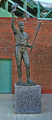 Photograph - Carl Yastrzemski Statue - Fenway Park by Allen Beatty