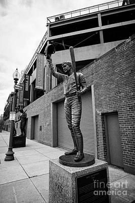 carl yastrzemski yaz statue at Fenway park home of the Boston Redsox USA Art Print