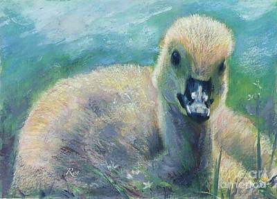 Mixed Media - Carla's Duckling by Ryn Shell