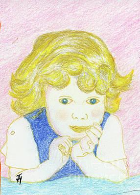 Drawing - Carley Mae by Jack Hedges