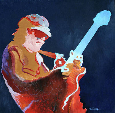 Carlos Santana Painting - Carlos - Fire And Ice by Tom O'Hara