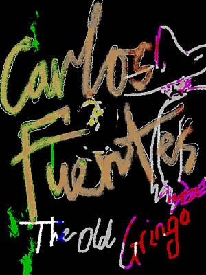 Carlos Fuentes Poster  Art Print