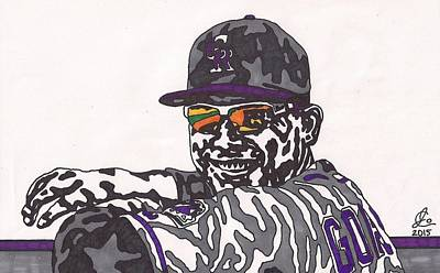 Drawing - Carlos Gonzalez 1 by Jeremiah Colley