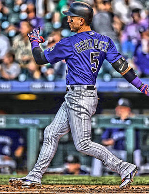 Carlos Gonzalez Colorado Rockies Art 3 Art Print by Joe Hamilton