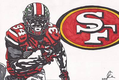 Drawing - Carlos Hyde  by Jeremiah Colley