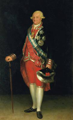 Ruler Painting - Carlos Iv, Rey De Espana, En Traje De Coronel De Los Guardias De Corps by Francisco Goya