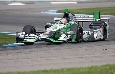 Indycar Photograph - Carlos Munoz by David Lambert