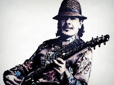 Painting - Carlos Santana - 02 by Andrea Mazzocchetti
