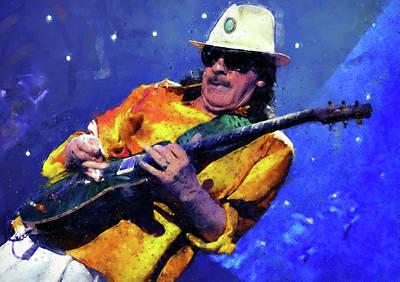 Painting - Carlos Santana - 04 by Andrea Mazzocchetti
