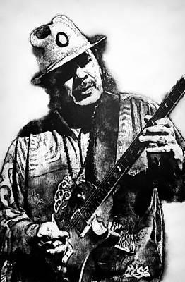 Painting - Carlos Santana - 05  by Andrea Mazzocchetti
