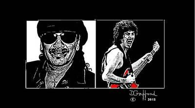 Carlos Santana Painting - Carlos Santana by Dave Gafford