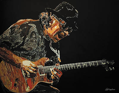 Painting - Carlos Santana by Hay Rouleaux