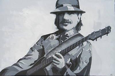 Carlos Santana Painting - Carlos Santana by Ken Jolly
