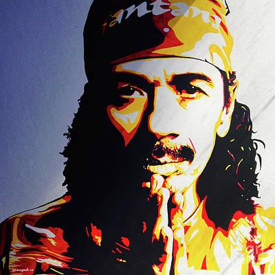 Carlos Santana. Art Print