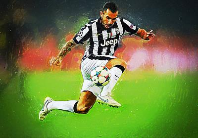 Cristiano Ronaldo Digital Art - Carlos Tevez by Semih Yurdabak