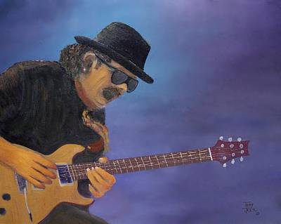 Carlos Santana Painting - Carlos by Tony Rodriguez
