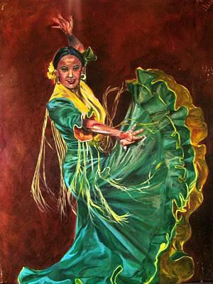 Painting - Carlota by Yxia Olivares