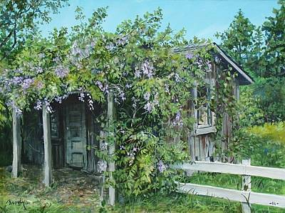 Painting - Carl's Shed by William Brody
