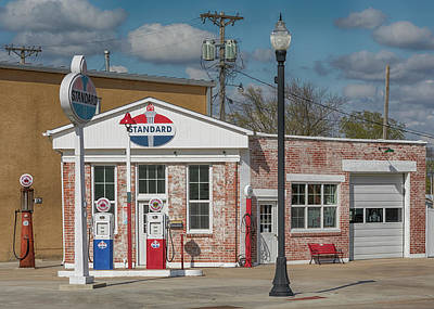 Photograph - Carls Standard Filling Station by Susan Rissi Tregoning
