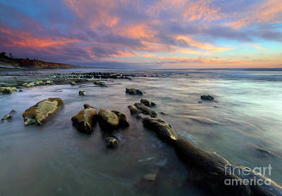 Photograph - Carlsbad Beach Dusk by Mike Dawson