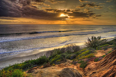 Photograph - Carlsbad Shore by Stephen Campbell