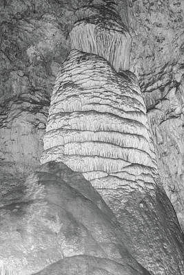Photograph - Carlsbad Stalagmite by James Gay