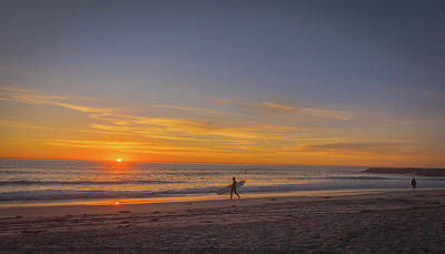 Photograph - Carlsbad Sunset Surfer by Bruce Pritchett