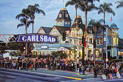 Carlsbad Village Sign Art Print