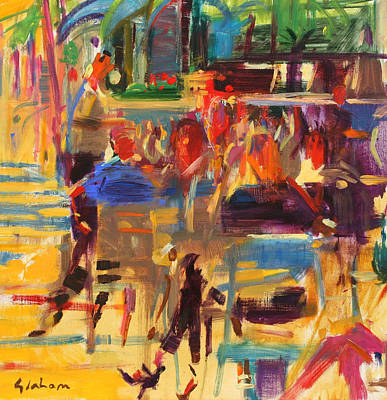 Restaurant Decor Painting - Carlton Croisette  Cannes  by Peter Graham