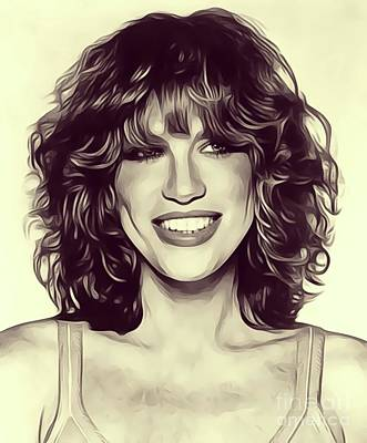 Rock And Roll Royalty-Free and Rights-Managed Images - Carly Simon, Singer by John Springfield
