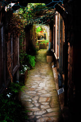 Photograph - Carmel Alleyway by Bill Dodsworth
