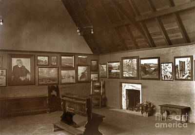 Photograph - Carmel Art Association, Oct. 1927 Gallery In Seven Arts Building by California Views Mr Pat Hathaway Archives