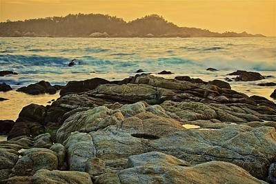 Photograph - Carmel Bay Gold, Carmel, California by Flying Z Photography by Zayne Diamond