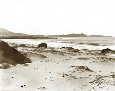 Photograph - Carmel Beach, Bath House, Carmel Point And Point Lobos 1905 by California Views Mr Pat Hathaway Archives