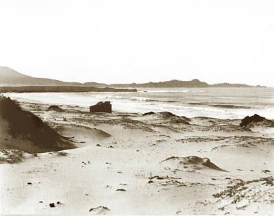 Photograph - Carmel Beach, Bath House, Carmel Point And Point Lobos 1905 by California Views Mr Pat Hathaway Archives
